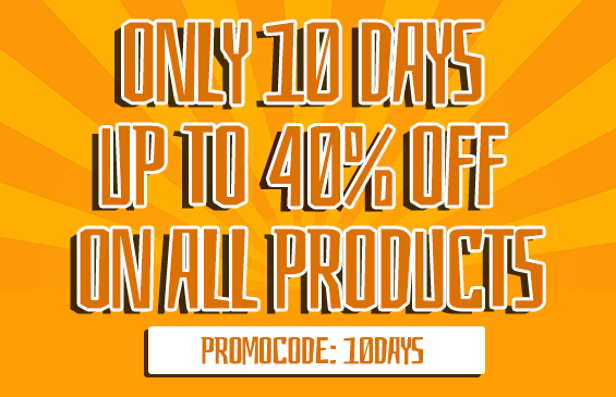 10 Days promo on all
